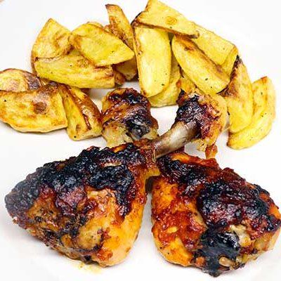 pollo in salsa barbecue